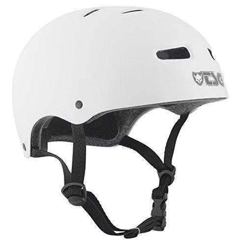 TSG Helm Skate BMX Injected Colors Halbschalenhelm, White, S/M