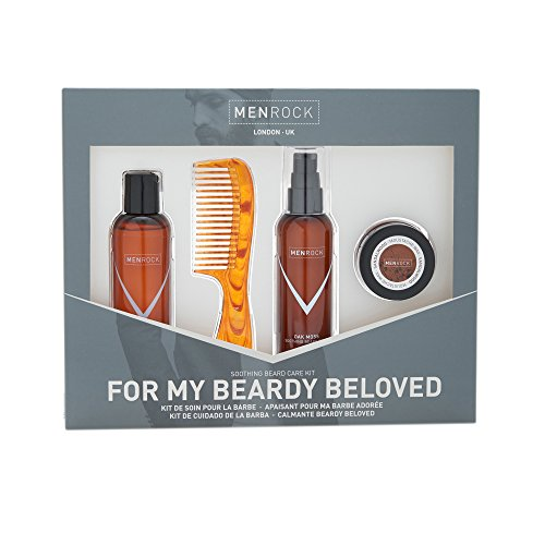 Men Rock Kit D'Entretien pour Barbe et Moustache