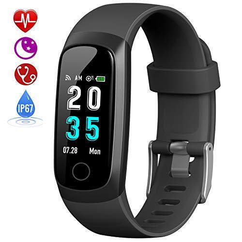 HETP Fitness Tracker, Orologio Fitness Braccialetto Pressione Sanguigna Cardiofrequenzimetro da...