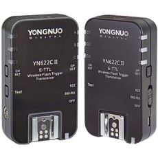 Yongnuo YN622C II - Kit de 2 transceptores para Canon (TTl, HSS, 7 Canales), Color Negro