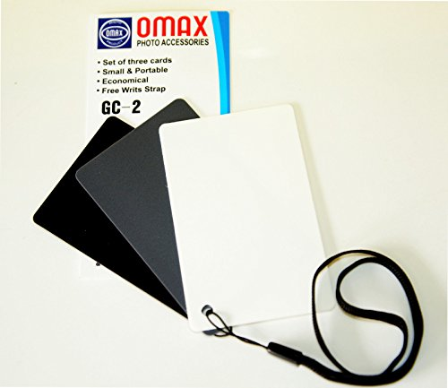 Omax GC-2 3 in 1 Digital Gray Card and White Balance Card Set