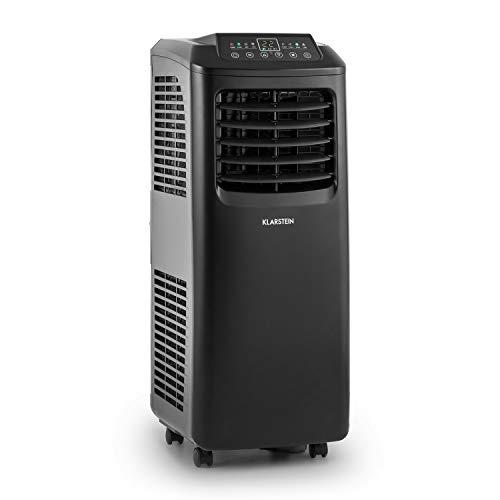 KLARSTEIN Pure Blizzard 3 2G Blackline - Climatiseur, Mobile, Télécommande, 7000BTU, Ecran LED, Kit de Montage pour fenêtre, Efficacité énergétique A, Sleep Mode, Noir