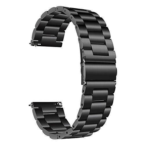 TRUMiRR per Samsung Galaxy Watch 42mm Cinturino, 20mm Cinturino in Acciaio Inossidabile Solido Cinturino Cinturino da Polso per Galaxy Watch 42mm R810 R815 / Gear Sport/Gear S2 Classico R732 R735