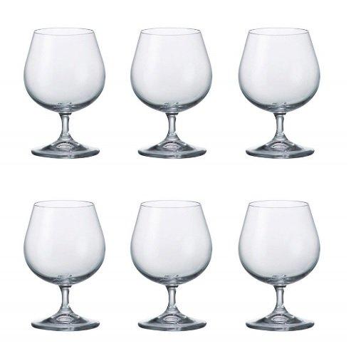 Bohemia Crystalite Adele 250ml bicchieri da cognac 6trasparente cristallo moderno brandy whisky Snifter Glass bar Gift
