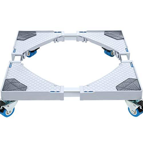 YUFEI Rulli per elettrodomestici Carrello per Lavatrice con rotelle Base Regolabile per asciugatrice...