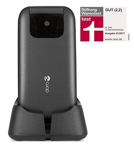 Doro PhoneEasy 613 Téléphone Portable à Rabat au Design élégant avec Appareil Photo 2MP, écran et Touches Larges, Bouton d'appel d'urgence 8