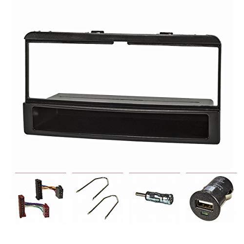 Radio (Juego + USB de carga) Ford Focus, Fiesta, Cougar, Mondeo, Transit, con repisa, color negro