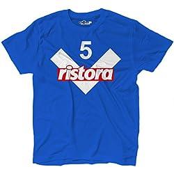 KiarenzaFD Maglietta T-Shirt Calcio Vintage Andrea Brescia 5 Pirlo Stagione 00-01 Leggende