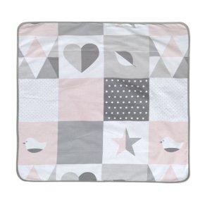 La manta roba-kids de la colección 'Happy Patch', es un arrorró donde tu bebe puede jugar y gatear, tiene 2 caras con 2…
