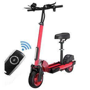 H-CAR QW Scooter Electrico con Asiento, Patinete Electrico Adulto, Ajustable La Altura, con Pantalla LCD 3 Modos De…