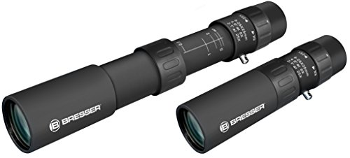 Bresser Zoom Monokular 8-25x25 Dachkant mit stufenlosem Zoom und Makrofunktion inklusive Transporttasche und Trageriemen
