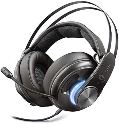 Trust GXT 383 Dion Gaming Kopfhörer mit 7.1 Surround (für PS4, PC, Laptop, Tablet, Phone, Xbox One) schwarz