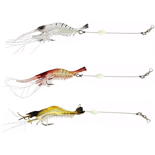Newshot, esche morbide e luminose a forma di gamberetto, per pescare orate, neoceratodi e naselli, con amo, colori misti
