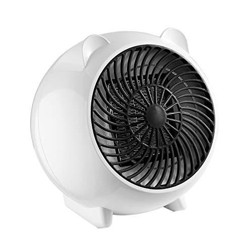 Heizlüfter, XinFun Mini Heizlüfter Keramik Energiesparend Elektroheizer 250W, 2s Schnellheitzer Abschaltautomatik Überhitzungschutz