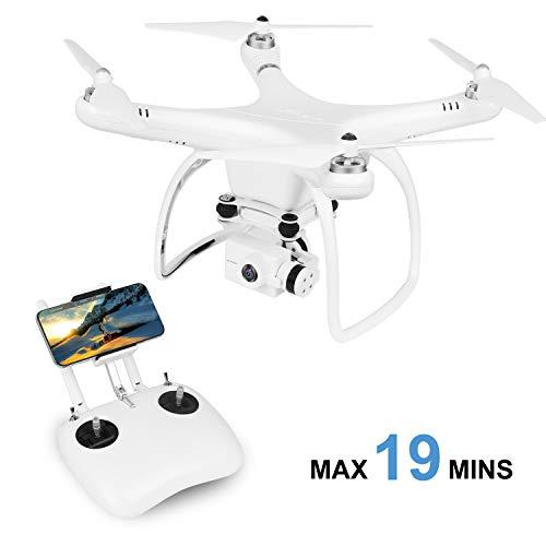 UPair One Plus Drohne mit 2.7K Kamera 2.4G Fernsteuerung FPV live übertragung RC Quadcopter with IOS APP Control, Follow Me Modus, Headless Modus, Home Return