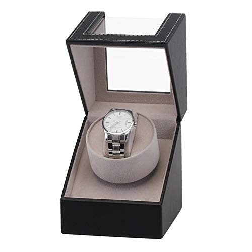 Watch Display Box, High-Grade PU Leather Motor Shaker Watch Winder Display Box Luxury Automatic Mechanical Wristwatch Box Designed with a Transparent Top Lid, Perfect for Personal Use or Business Use
