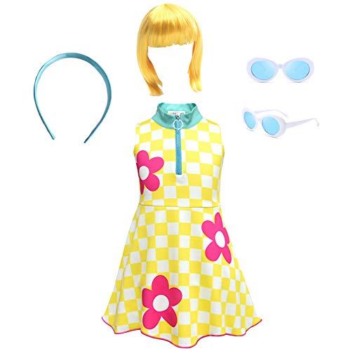 Simile LOL Abito Costume Carnevale Bambina Simil Go Go Girl Dress LOLGOG1 (Set Completo 4 Pezzi - all 4 Pieces, 150)