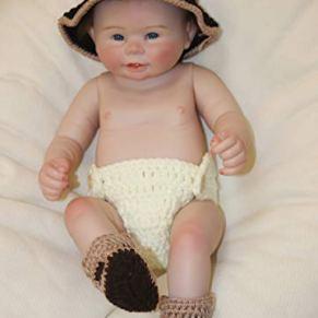 ZZSQ Realista Bebé Reborn Muñecas 20 Pulgadas 51 cm Suave Vinilo de Silicona Bebe Reborn Chico niña Recién Nacido Juguetes para niños Mayores de 3 años