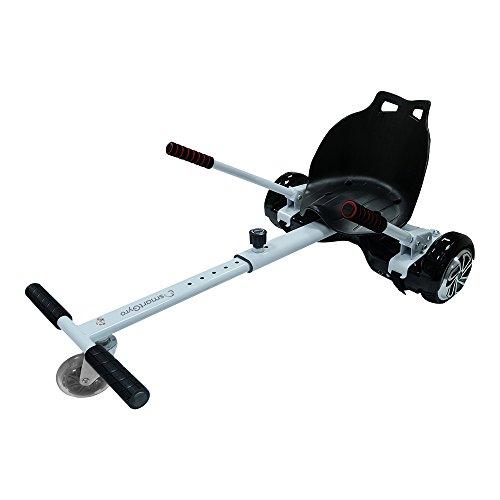 SmartGyro Go-Kart PRO White, Supporto Adattabile per Monopattino Elettrico Hoverboard, Taglia Unica,...