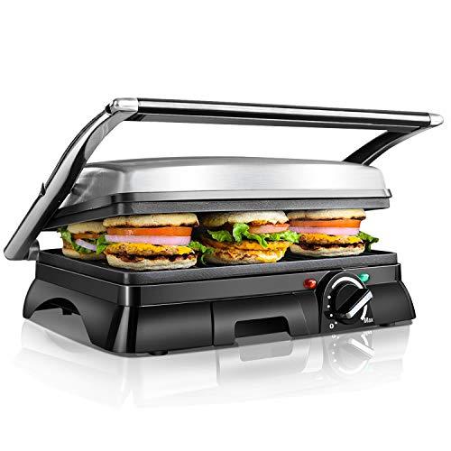 Aigostar Samson 30KLU- Griglia multifunzione per panini maker da 2000W con 2 piani di cottura 29.5 *...