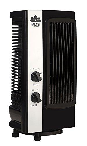 BMS Lifestyle Tf-101 Portable Mini Revolving & Oscillating Tower Fan - Black