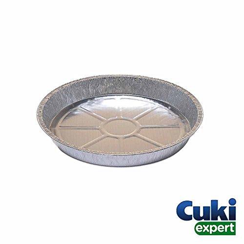 Cuki Expert - Vaschetta Tonda Alluminio Torta - Teglie usa e getta forno - Teglie per torte usa e...