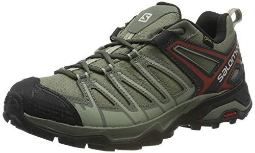 Salomon X Ultra 3 Prime GTX, Zapatillas de Senderismo para Hombre, Gris Castor Gray/Shadow/Bossa Nova, 45 1/3 EU