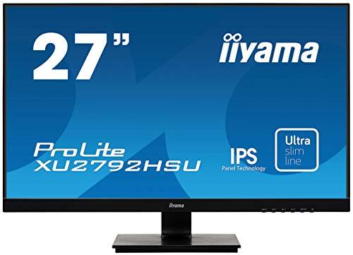 """iiyama ProLite XU2792HSU-B1 68,6cm (27\"""") IPS LED-Monitor Full-HD (VGA, HDMI, DisplayPort, USB3.0, Ultra Slim Line) schwarz"""