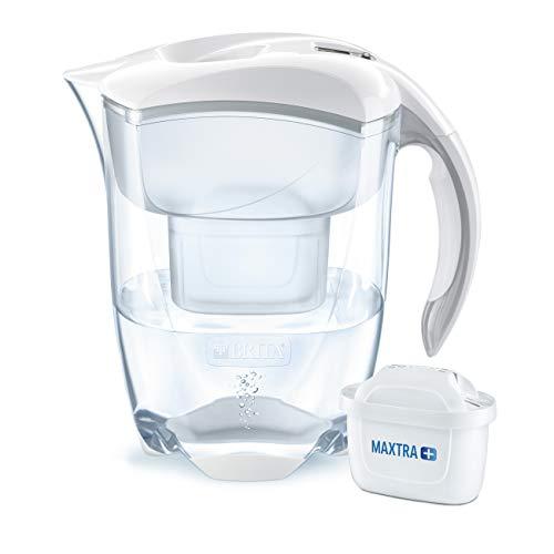 Brita, Elemaris XL - Caraffa filtrante per acqua, bianco, 25,8 x 25,6 x 13,4 cm