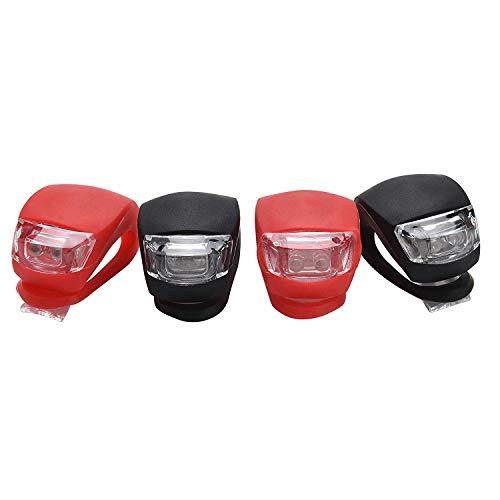 Yizhet 4 Pezzi Luci LED Bici Luce Bicicletta Impermeabile Silicone Luce Set Illuminazione Passeggini...