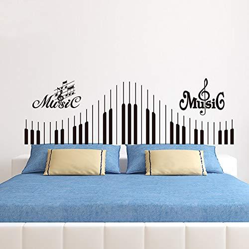 Decalcomanie da tastiera per pianoforte adesivo nero sulla parete della nota musica rock violino...