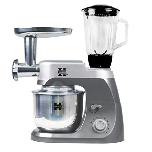 Herzberg HG-5029:3 in 1800W Stand Mixer With Planetary Beating Action Gray