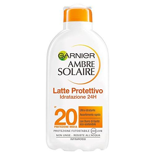 Garnier Ambre Solaire Latte Protettivo Idratante con Burro di Karitè, Protezione Media IP20, 200 ml
