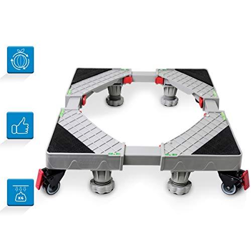 Grandekor Base Lavatrice Asciugatrice Frigorifero Universale Regolabile Mobile Base con 4×2 Gomma...