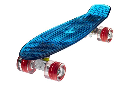 Ridge Skateboard Blaze Mini Cruiser , blau/rot, 55 cm
