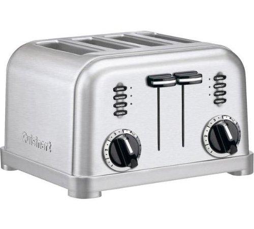 Cuisinart CPT180E Toaster 4 fentes extra larges, 1800 W, Acier brossé