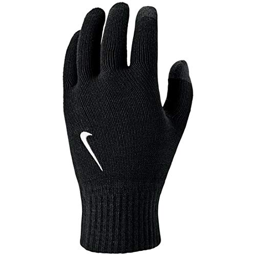 Nike Unisex - Adulto Knitted Tech And Grip Guanti, Unisex- Adulto, N.000.3510.091.SM, Black/White,...