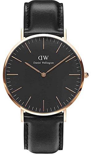 Daniel Wellington Herren Analog Quarz Uhr mit Leder Armband DW00100127