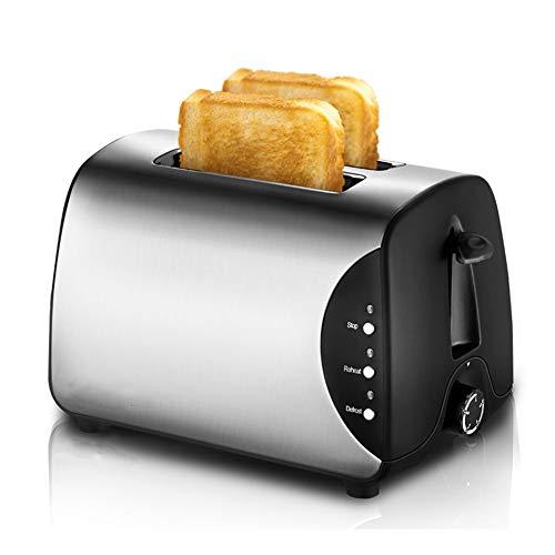 2 fette Acciaio inossidabile tostapane, 750W Liscio spazzolato tostapane con annullare riscaldare...