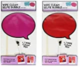 Dry Erase Selfie Board Wipe Clean Speech Bubble Photo Prop Pack Of 2 Red Pink