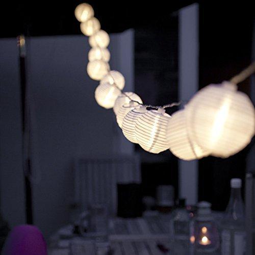 Eleganbello, Catena Luminosa, Striscia di Luci, 4m, 20 LED, Lanterne, Funziona con Batteria, Lucine...