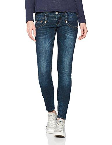 Herrlicher Damen Jeans Pitch Slim, Blau (Posh 711), W27/L32...