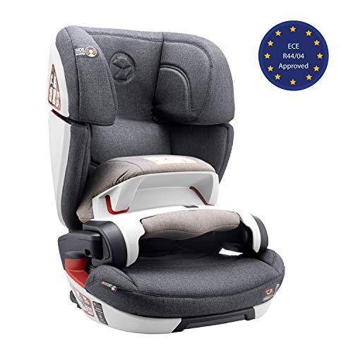 Seggiolino Auto Gruppo 1/2/3, Isofix, con Protezione d'Impatto, Norma ECE R44/04 (Sicurezza per Bambini 9-36kg) - Seggiolino Auto 9-36 kg Isofix, Rialzo Macchina Bimbo - Seggiolini Auto Reclinabile