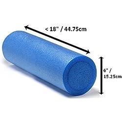 Rodillo de masaje de espuma de fisioterapia, para pilates, Yoga, fitness, gimnasio, recuperación de dolores musculares, color azul