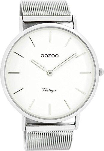 Oozoo Vintage Herrenuhr Weiß/Silber 44 mm C7720