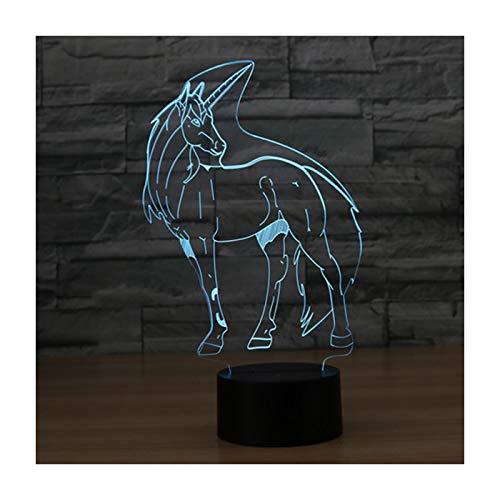 Lampade 3D Illusione Ottica Luce Notturna, EASEHOME Deco Lampada LED da Tavolo Illuminazione Luce di...