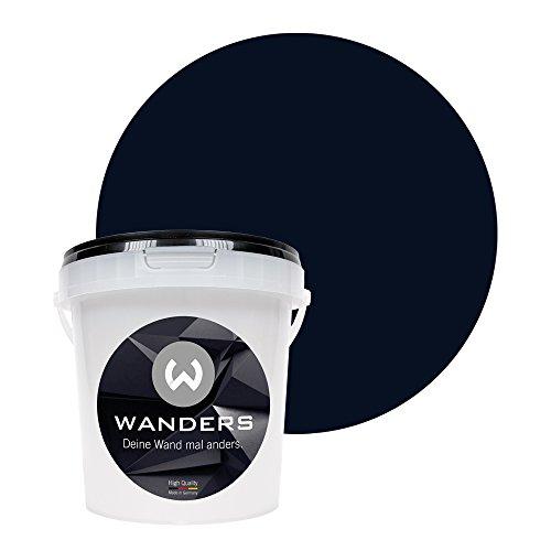 Wanders24 Pittura lavagna (1 litro, Nero) pittura murale, vernice effetto avagna, lavabile,...