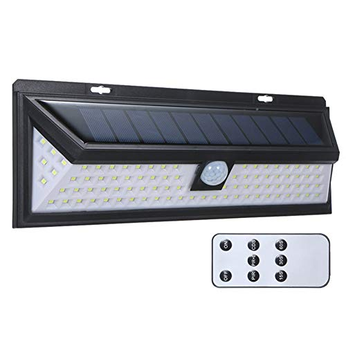 Delleu Luci solari,90/118 LED Impermeabile sensore di Movimento luci Outdoor Solare Alimentato da Parete Luce di Sicurezza Solare luci all'aperto per Patio Deck Yard