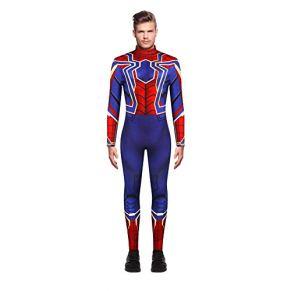 WSJ Disfraces de Halloween para Hombres, Spiderman de impresión Digital 3D para Hombres con impresión en la Espalda…