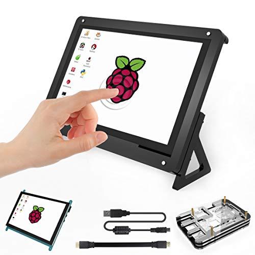 Per Raspberry Pi 7 pollici Touch Screen TFT LCD Monitor HDMI con schermo 7 pollici Custodia e 5 strati Pi 3 B + Custodia per Raspberry Pi